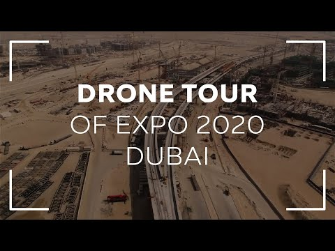 Drone Tour of Expo 2020 Dubai | جولة جوية في موقع إكسبو 2020
