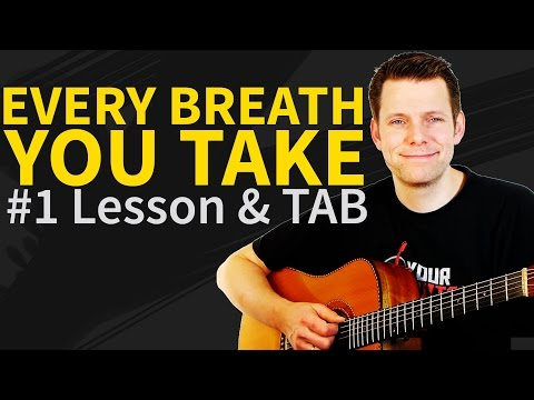 How To Play Every Breath You Take Guitar Lesson & TAB - The Police