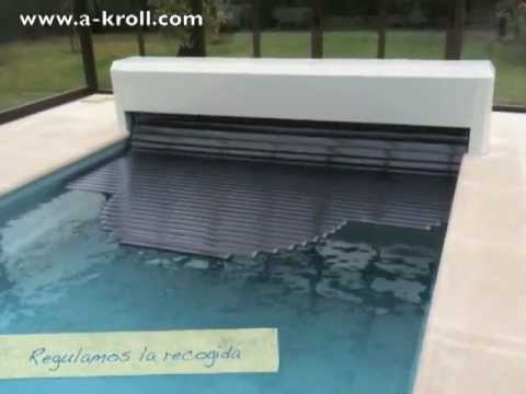 instalación cubierta automática piscina policarbonato solar Asturias. Climatización Piscina