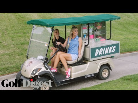 Kelly Rohrbach and Blair O'Neal Ambush Golfers in a Snack Bar Cart | Sexiest Shots in Golf