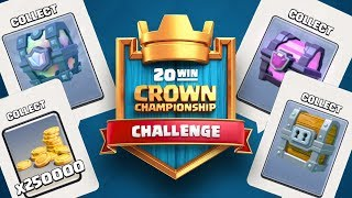 250,000 Gold, Legendary Cards, and Free Gems! Clash Royale Crown Championship Challenge!