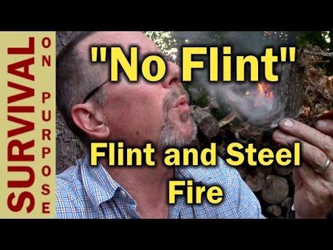 Flint and Steel Fire With No Flint - Primitive Fire