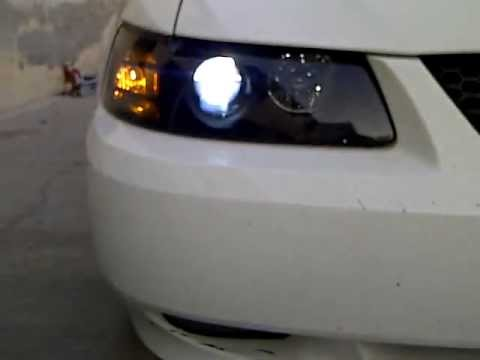 2000 Mustang Gt Aftermarket Projector Headlights With 8000k Hid You