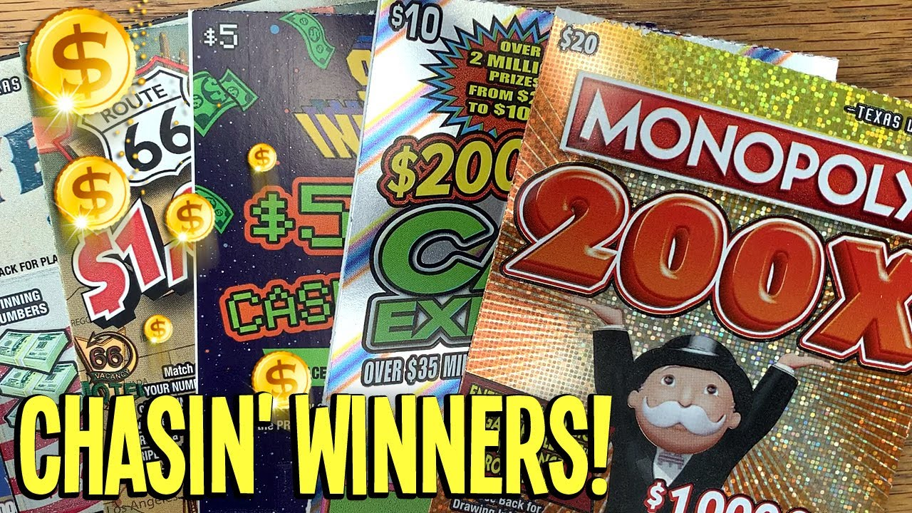 5 WINS! 💰 CHASIN' WINNERS! 😄 $20 Monopoly 200X 🛸 Space Invaders + Route 66 💵 TX Lottery Scratch Offs
