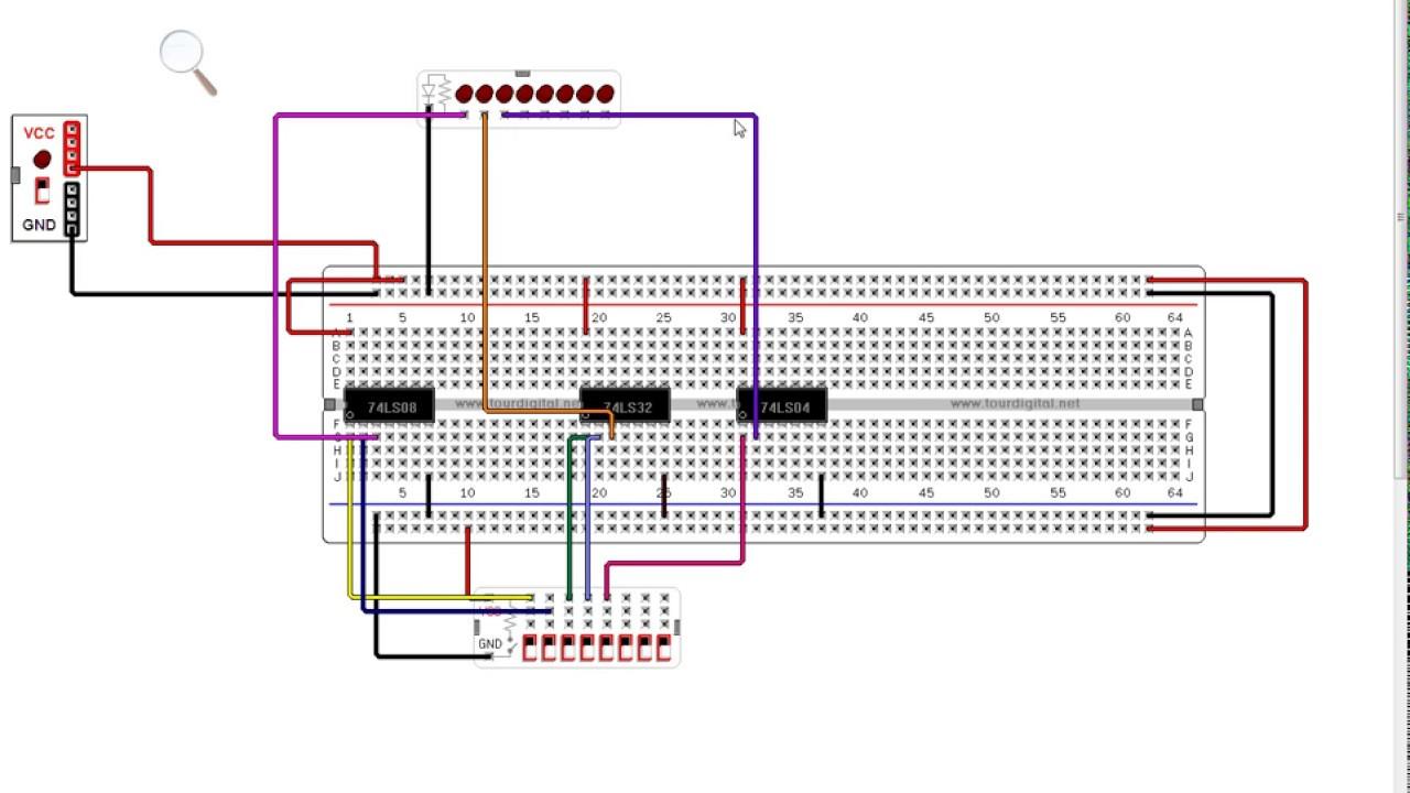 Circuito Virtual : Compuertas lógicas representación en un circuito virtual youtube