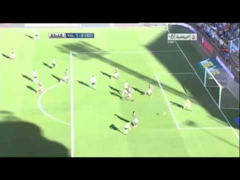 But de Sofiane Feghouli Valencia VS Celta Vigo 15 09 2012   houssam tv   YouTube
