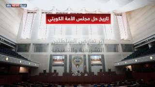 تاريخ حل مجلس الأمة الكويتي