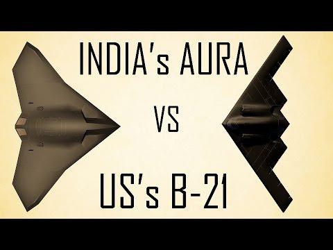 India's AURA vs US's B-21 UCAV in 3D