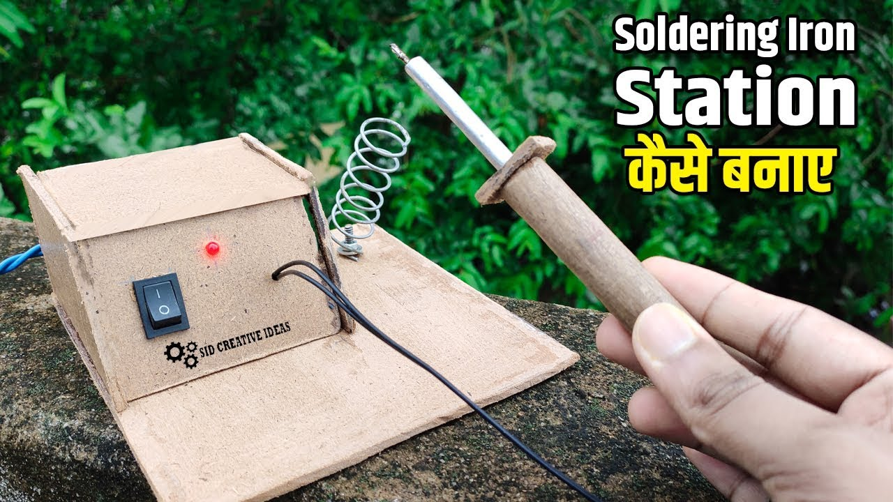 How to make soldering iron | Soldering Iron Stand कैसे ... on Iron Stand Ideas  id=23148