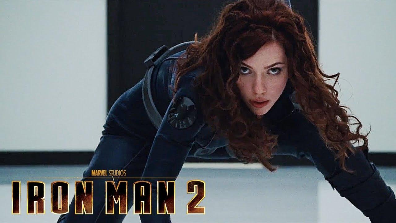 Iron Man 2 Black Widow Vs Security Hd