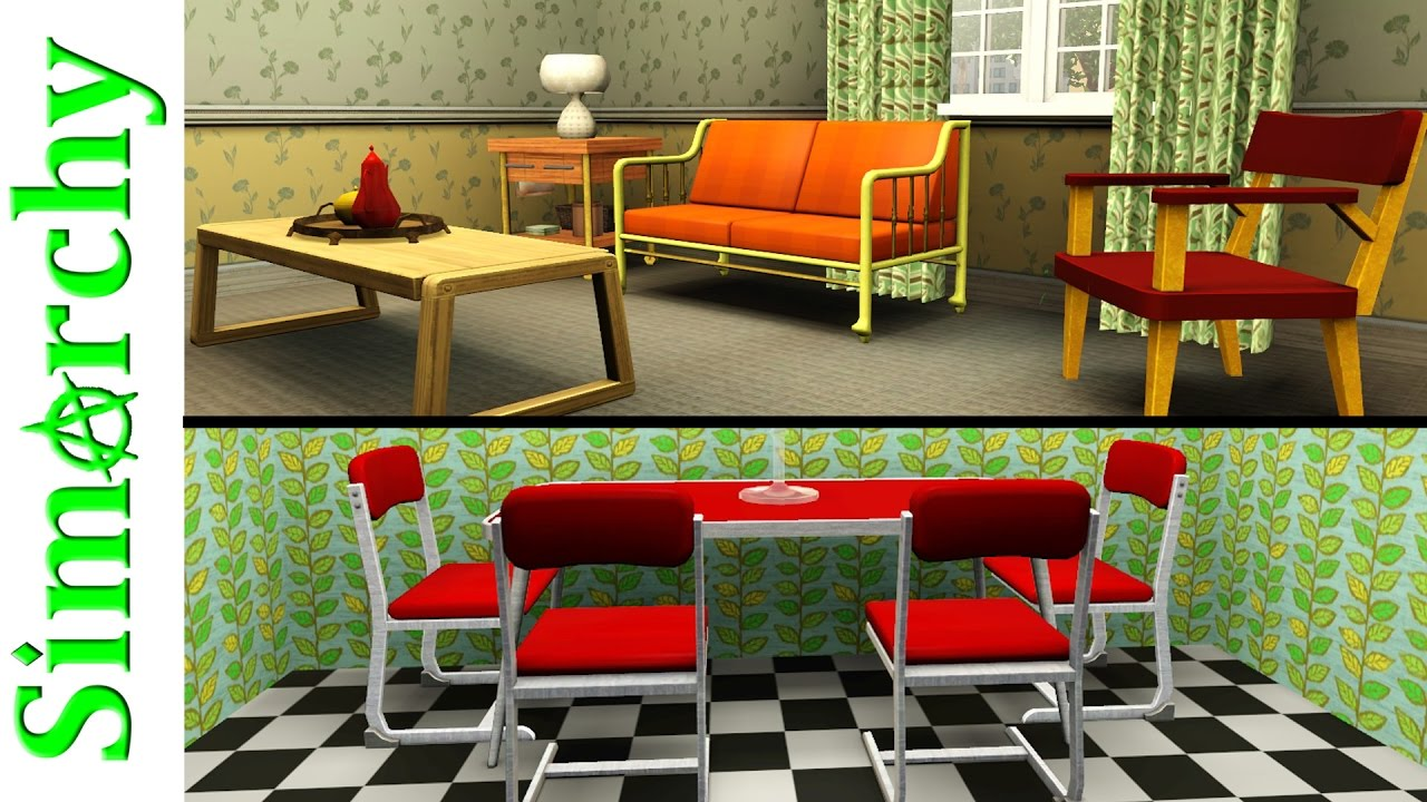 The sims 3 house tour 50s inspired home mid century modern retro roaring heights town world