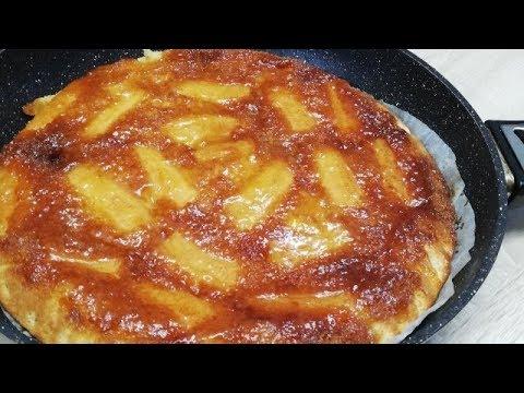 gÂteau-caramÉlisÉ-a-la-banane-cuit-a-la-poÊle-trÈs-facile-(cuisine-rapide)