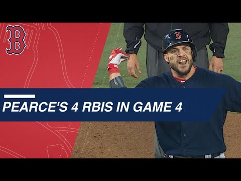 Pearce's two clutch hits, four RBIs in Game 4 win