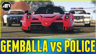 GTA 5 PC : GEMBALLA vs 5 STAR COPS!!!