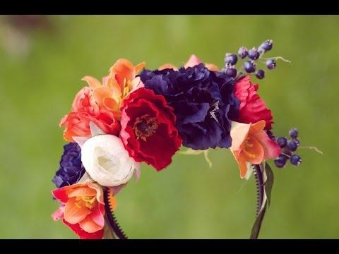 Diy Flower Headband Tutorial Flower Crown Super Easy Fake Flower