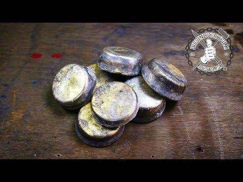 Melting 2.6+ Kilo Scrap Brass Into Ingots