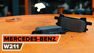aizmugurē un priekšā Bremžu Kluči uzstādīšana MERCEDES-BENZ E-CLASS (W211): bezmaksas video
