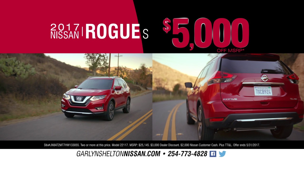 Garlyn Shelton Nissan of Temple - May 2017 - Ad#1 - YouTube