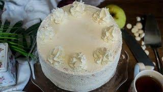 Ванильно кокосовый торт с миндалем