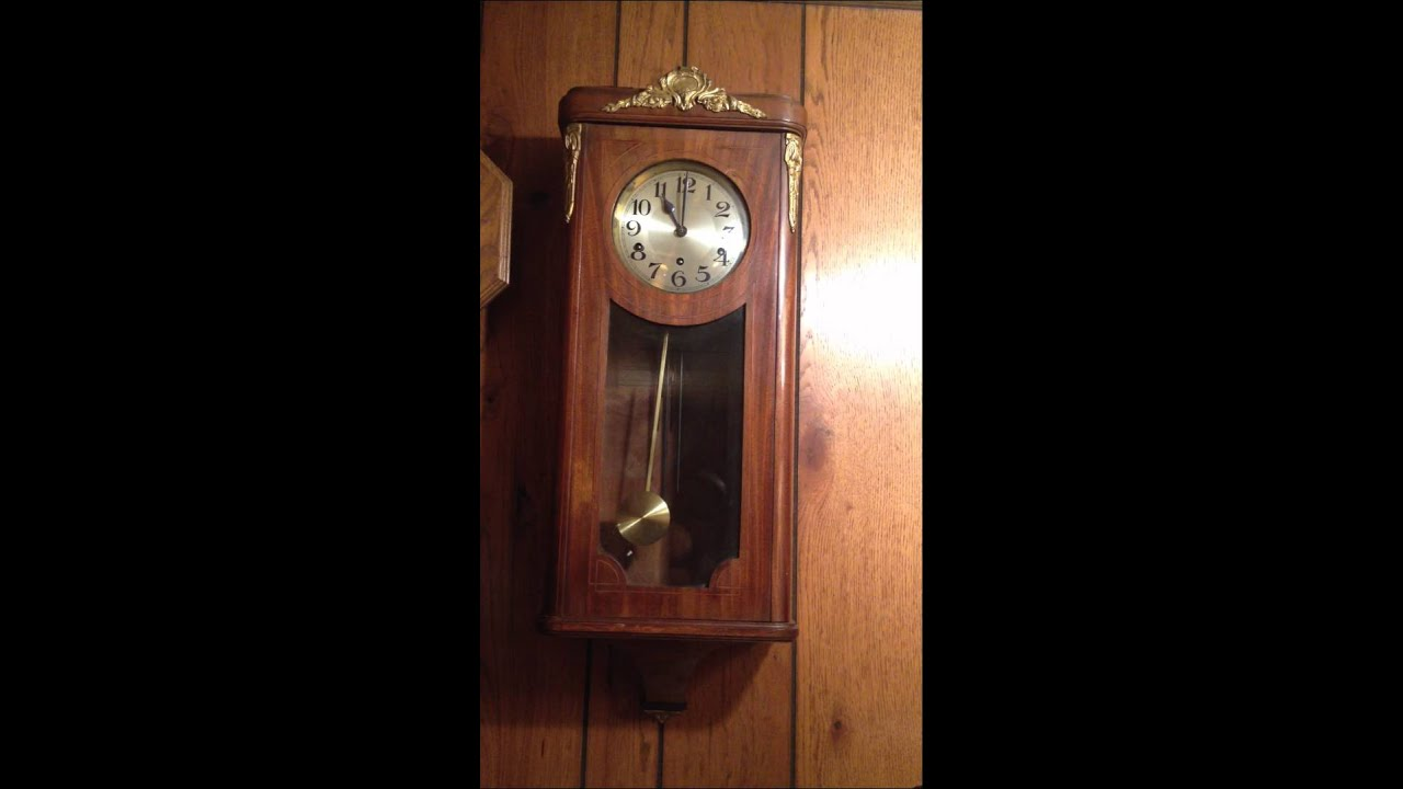 Sonnerie Arret Antique Wall Clock Running Condition