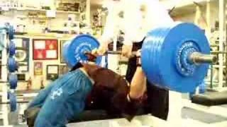 Andrey Butenko Bench Press workout 28 Oct 04 - 272,5 kg side