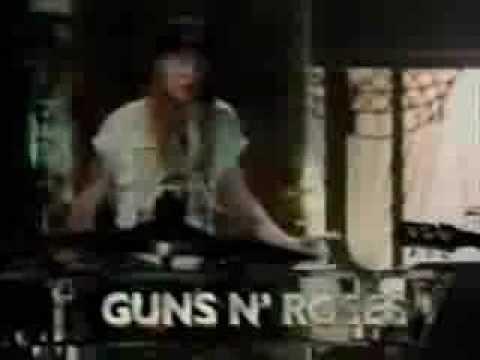 guns n' roses slash duff drunk 1990 AMA