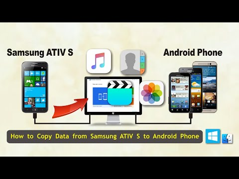 How to Copy Data from Samsung ATIV S to Android Phone, Sync ATIV S with Android