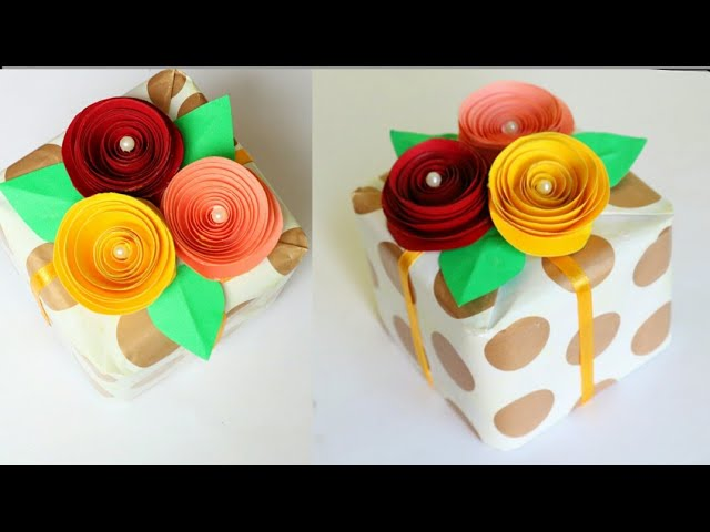 DIY Gift Wrapping Ideas|Gift wrapping with flowers| Creative Gift package ideas|Paper crafts