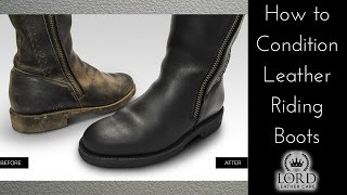 How to Condition Leather Riding Boots