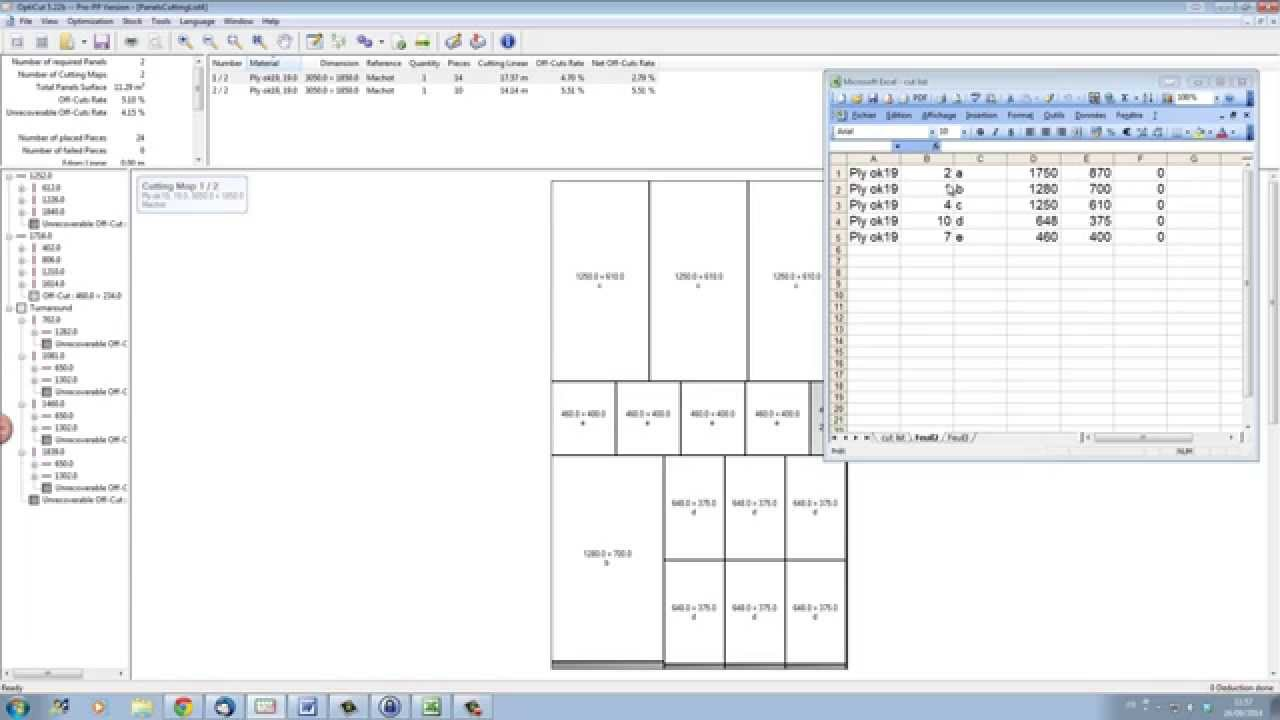 medium resolution of how to import your cutting list from a spreadsheet wood designer ltd