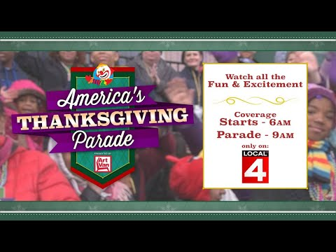 Watch Local 4's parade coverage Thanksgiving morning - Also live streamed on ClickOnDetroit.com