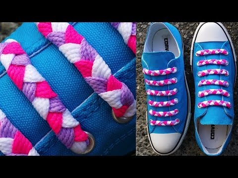 ∰ How to Braided Bar Lace your shoes∰