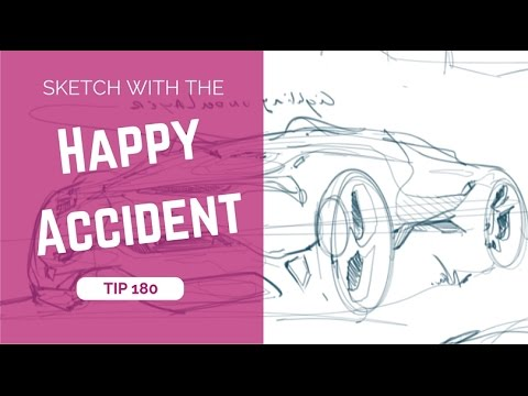 TIP: Sketch your car design using the Happy accident! - YouTube