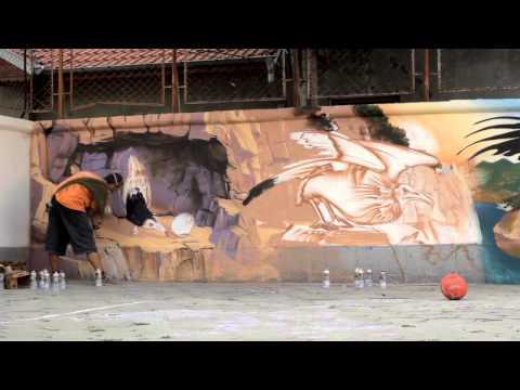 Creation of graffiti mural