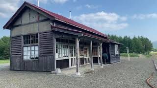 JR深名線沼牛駅駅舎:北海道幌加内町