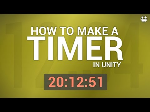 TIMER/STOPWATCH in Unity (tutorial)