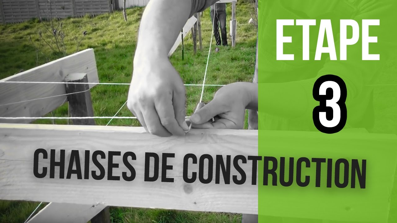 Comment pos des chaises de construction etape 3 youtube - Etape de construction d une maison ...