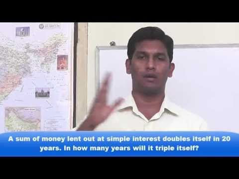 Aptitude class on Simple and Compound Interest video-1 in tamil