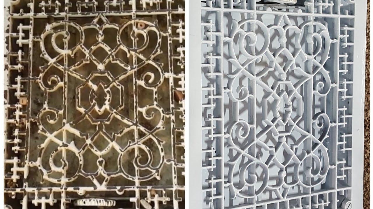 Restoration: Cast Iron floor vent sandblasted