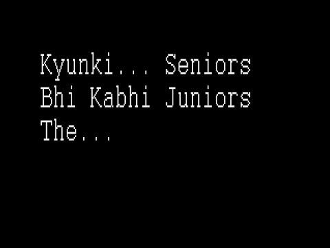 ANTS 2K15 Farewell (Kyunki Seniors Bhi Kabhi Juniors The...)