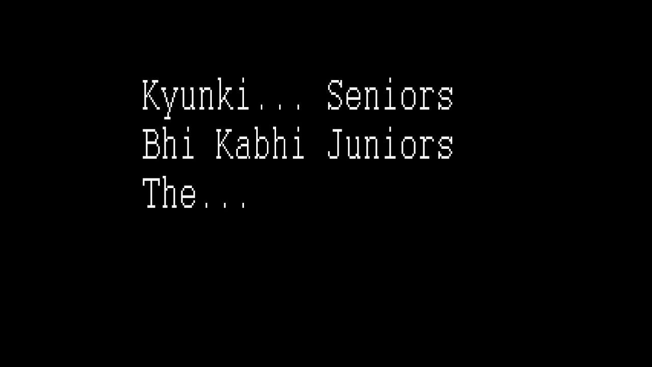how to write kyunki in hindi
