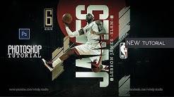 Nba Sports Wallpaper Design-Lebron James-Adobe Photoshop