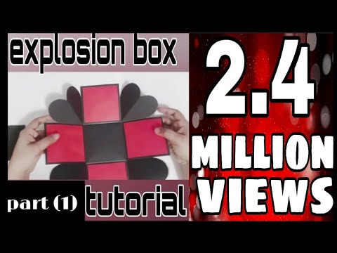 Explosion box basic tutorial (part 1) for beginners|how to make explosion box| handmade craft DIY