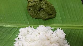 Basale Soppu  Basale Soppina chutney  Malbar Spinach Chutney  Kannada Recipes
