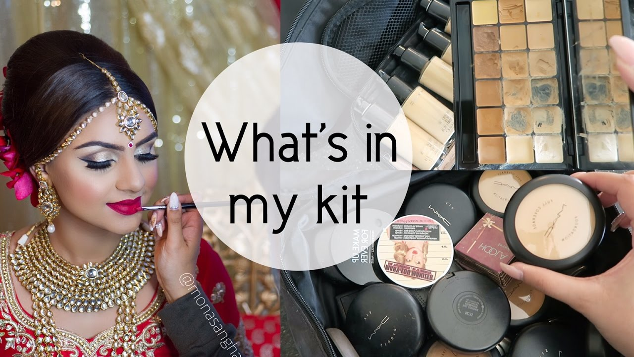 What's in my makeup kit   Indian Bridal MUA
