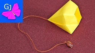 Бильбоке оригами игра из бумаги