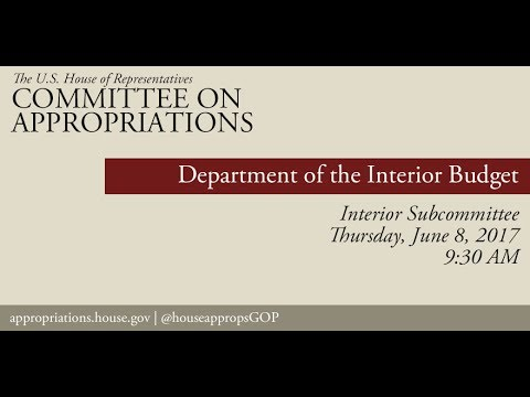Hearing: Department of the Interior Budget (EventID=106055)