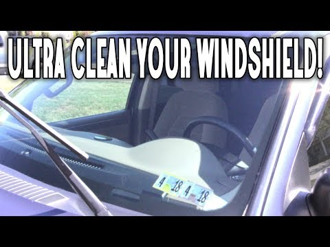 THIS IS HOW YOU CLEAN YOUR WINDSHIELD FOREVER!
