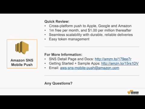 Using Mobile Push Notifications with Amazon SNS - Simply Notification Service on AWS
