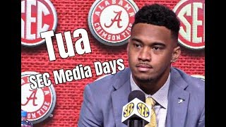 What Tua Tagovailoa had to say at SEC Media Days